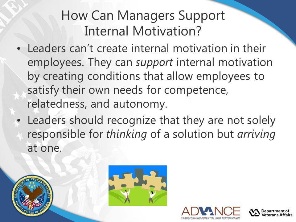 How Can Managers Support Internal Motivation
