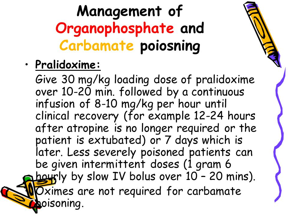 Management of Organophosphate and Carbamate poiosning