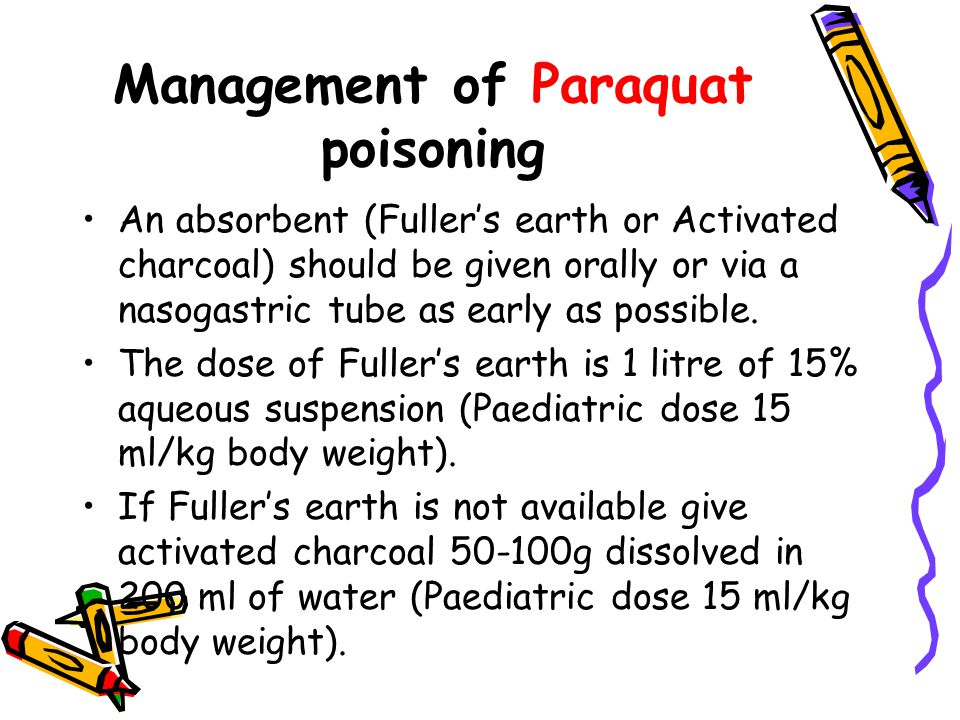 Management of Paraquat poisoning