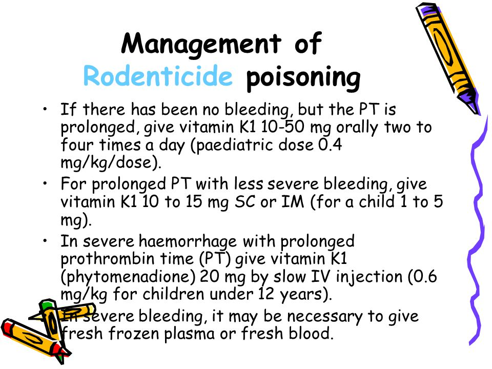 Management of Rodenticide poisoning