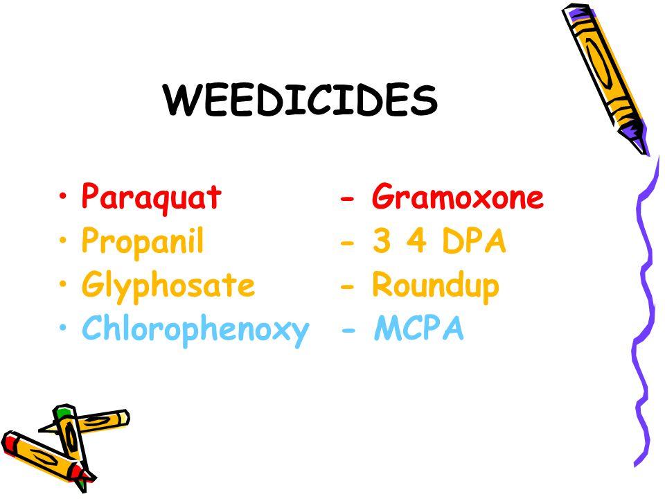 WEEDICIDES Paraquat - Gramoxone Propanil - 3 4 DPA
