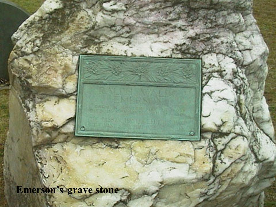 Emerson's grave stone