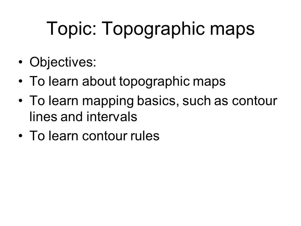 Topic: Topographic maps
