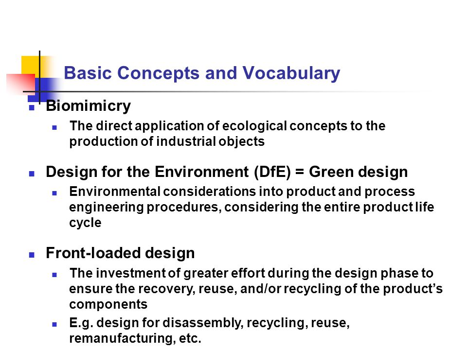 Basic Concepts and Vocabulary