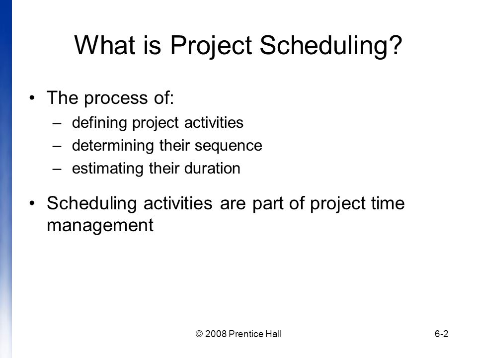 Introduction to Project Management Chapter 6 Managing Project ...