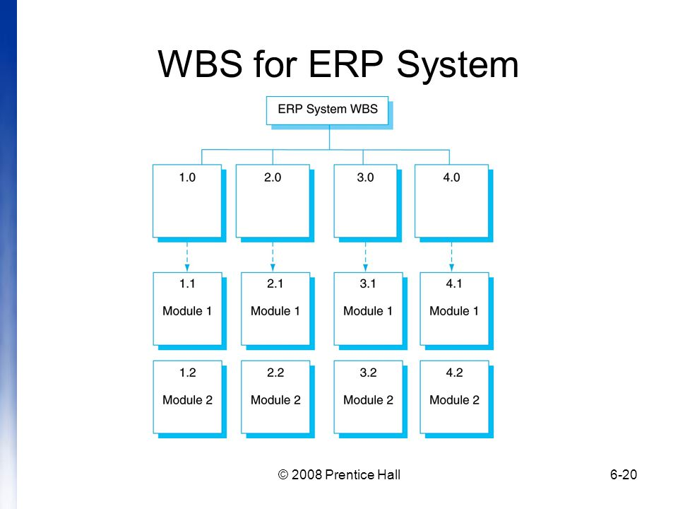 WBS for ERP System © 2008 Prentice Hall