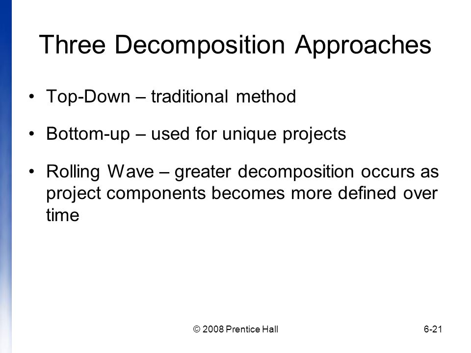 Three Decomposition Approaches