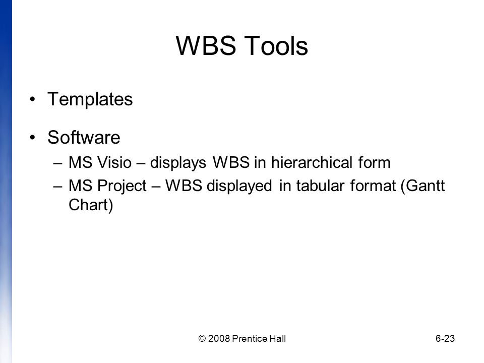WBS Tools Templates Software