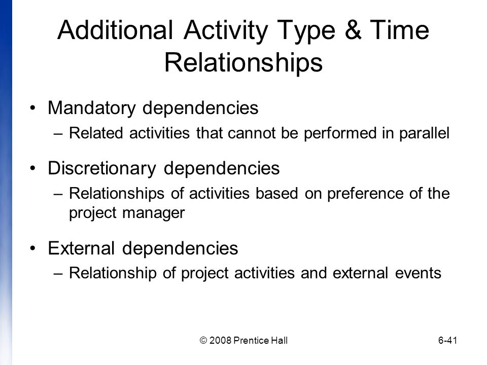 Additional Activity Type & Time Relationships