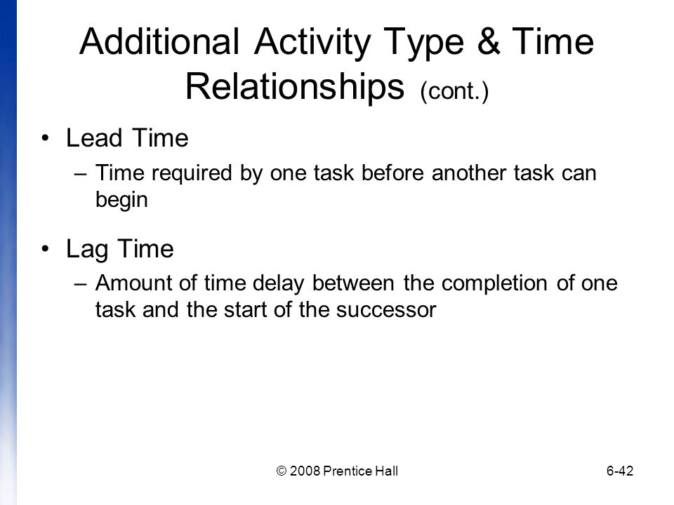 Additional Activity Type & Time Relationships (cont.)