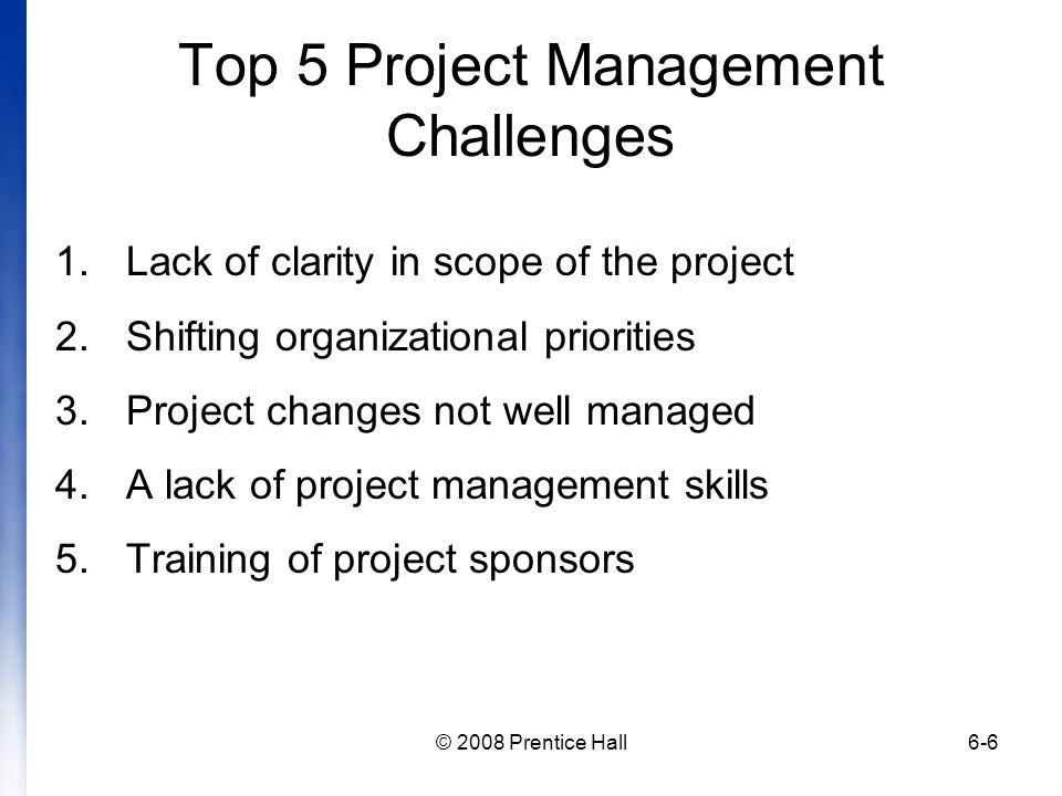 Top 5 Project Management Challenges