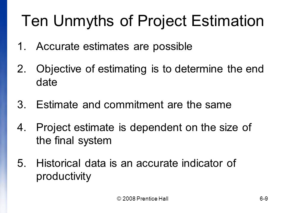 Ten Unmyths of Project Estimation