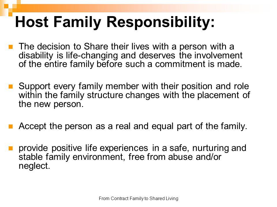 Host Family Responsibility: