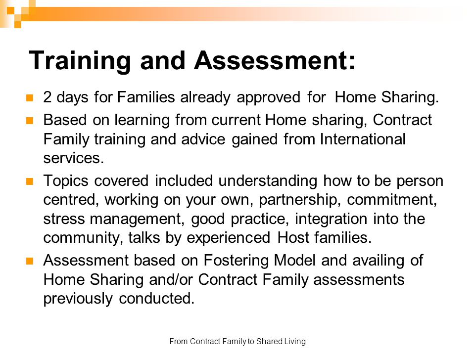 Training and Assessment: