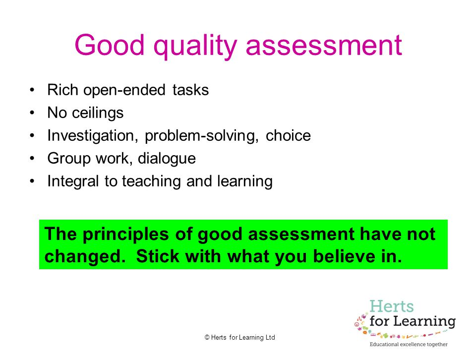 Good quality assessment