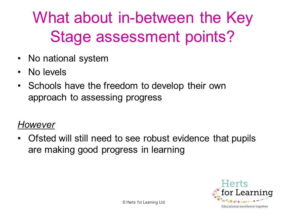 What about in-between the Key Stage assessment points