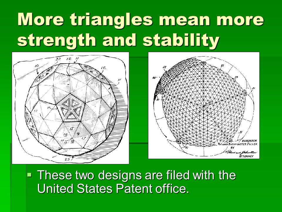 More triangles mean more strength and stability