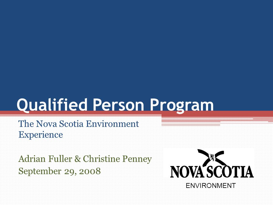 Qualified Person Program