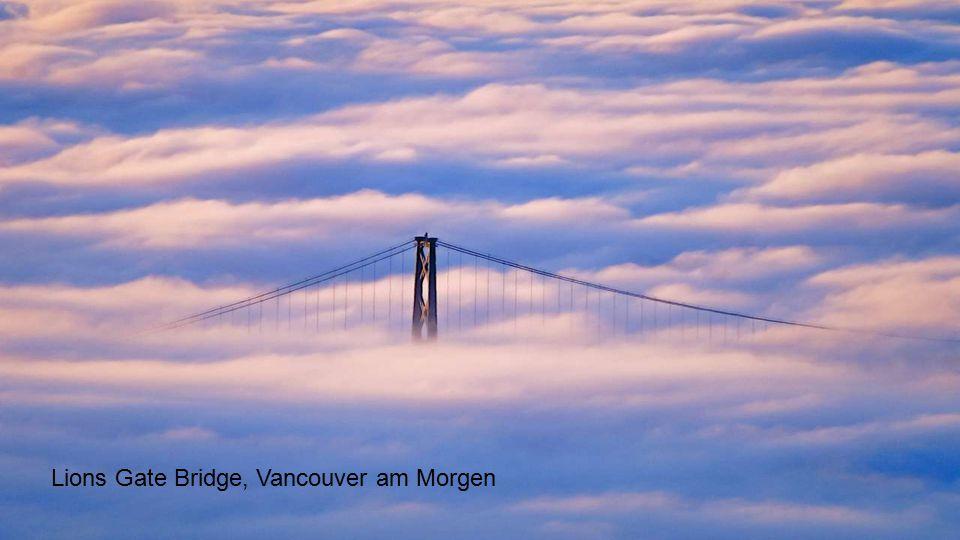 Lions Gate Bridge, Vancouver am Morgen