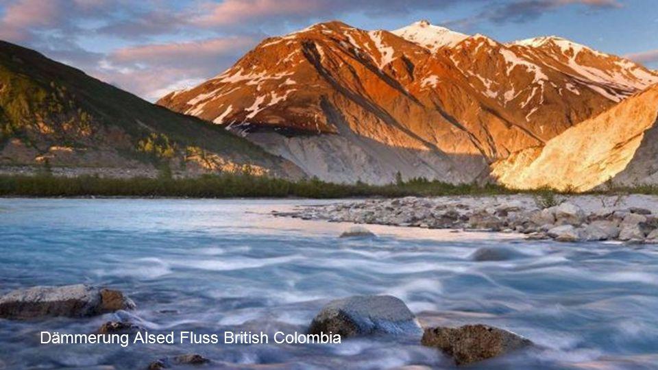 Dämmerung Alsed Fluss British Colombia