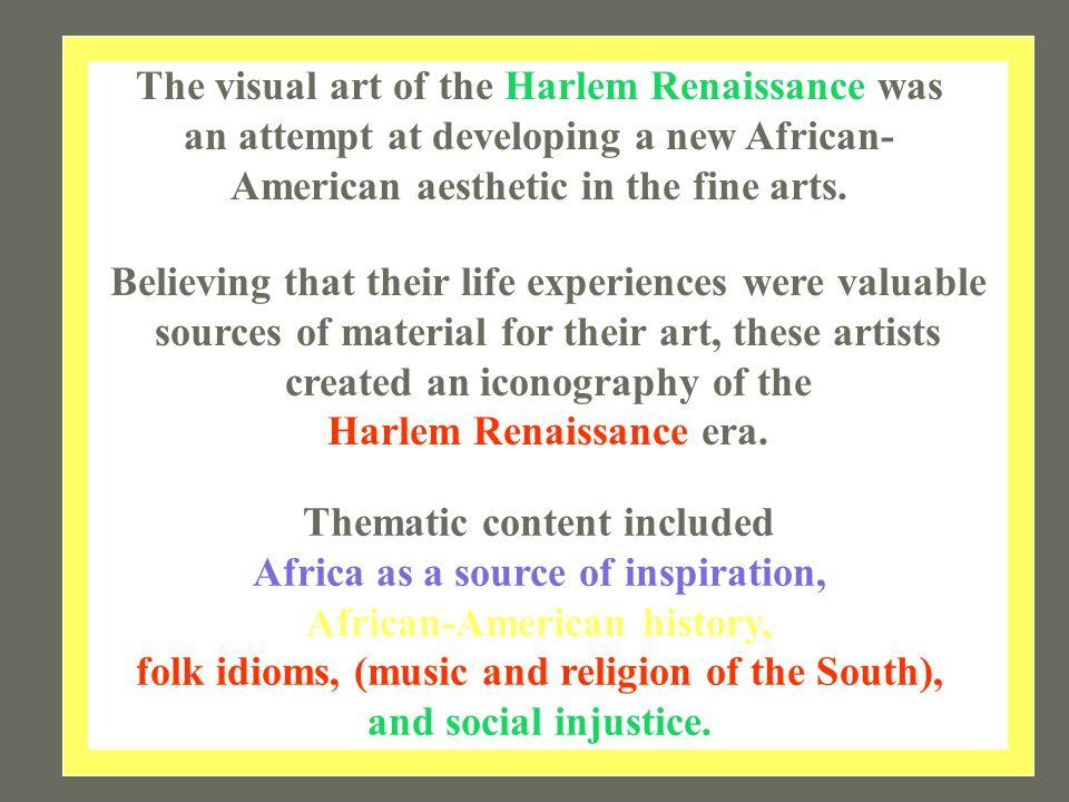 Harlem Renaissance era.