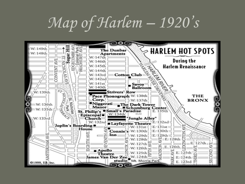 Map of Harlem – 1920's