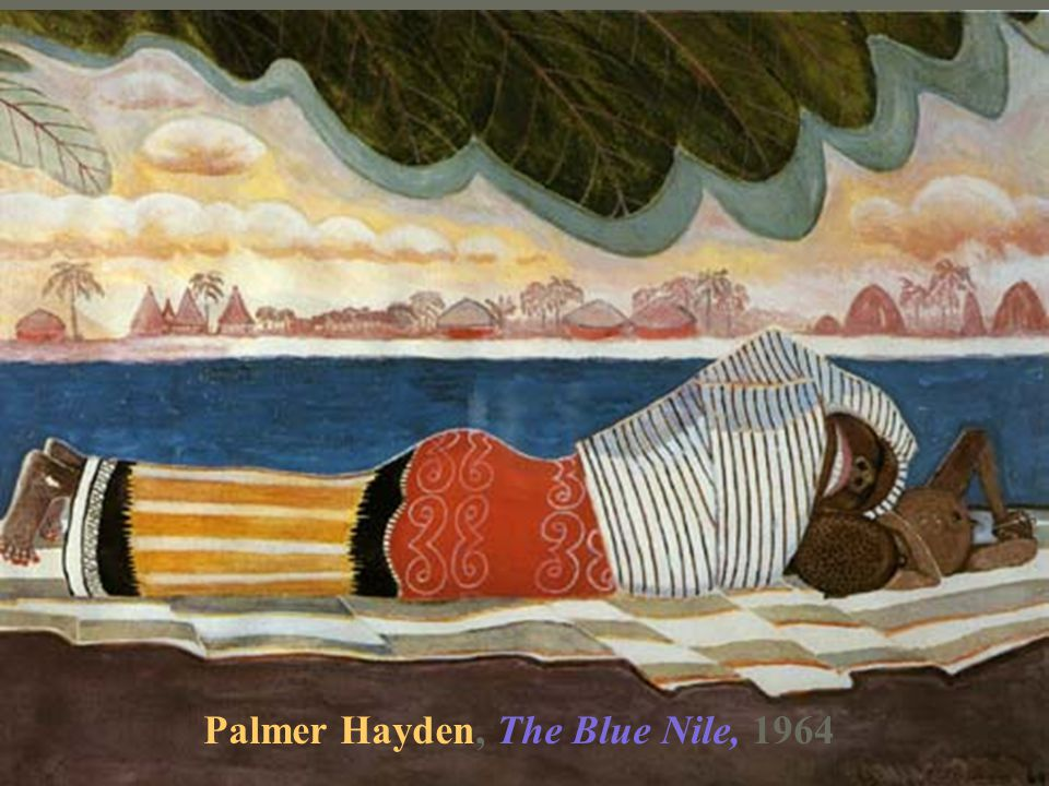 Palmer Hayden, The Blue Nile, 1964