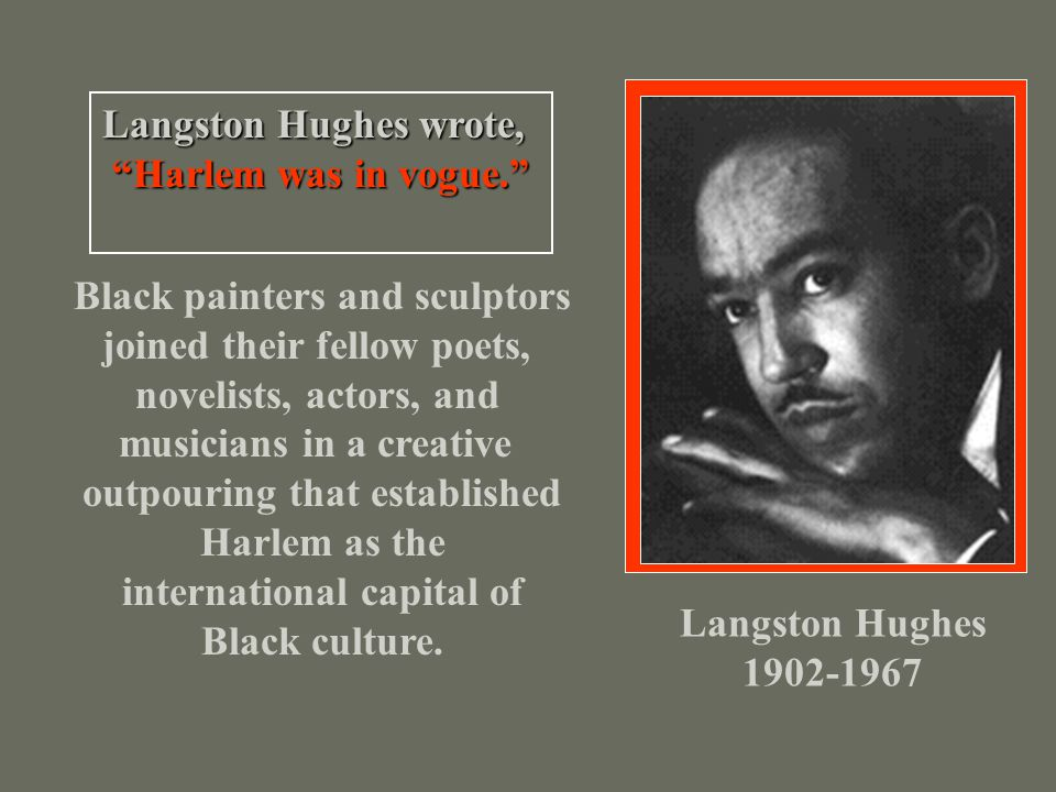 Black painters and sculptors joined their fellow poets,