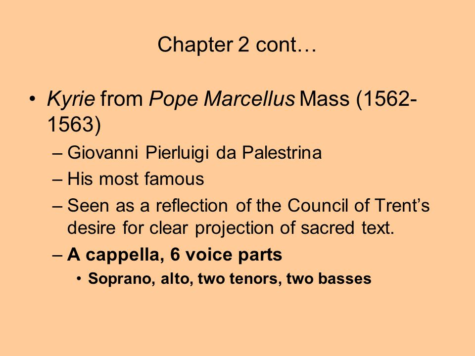 Kyrie from Pope Marcellus Mass (1562-1563)