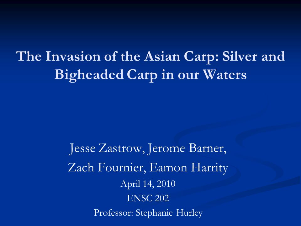 The Invasion of the Asian Carp: Silver and Bigheaded Carp in our Waters
