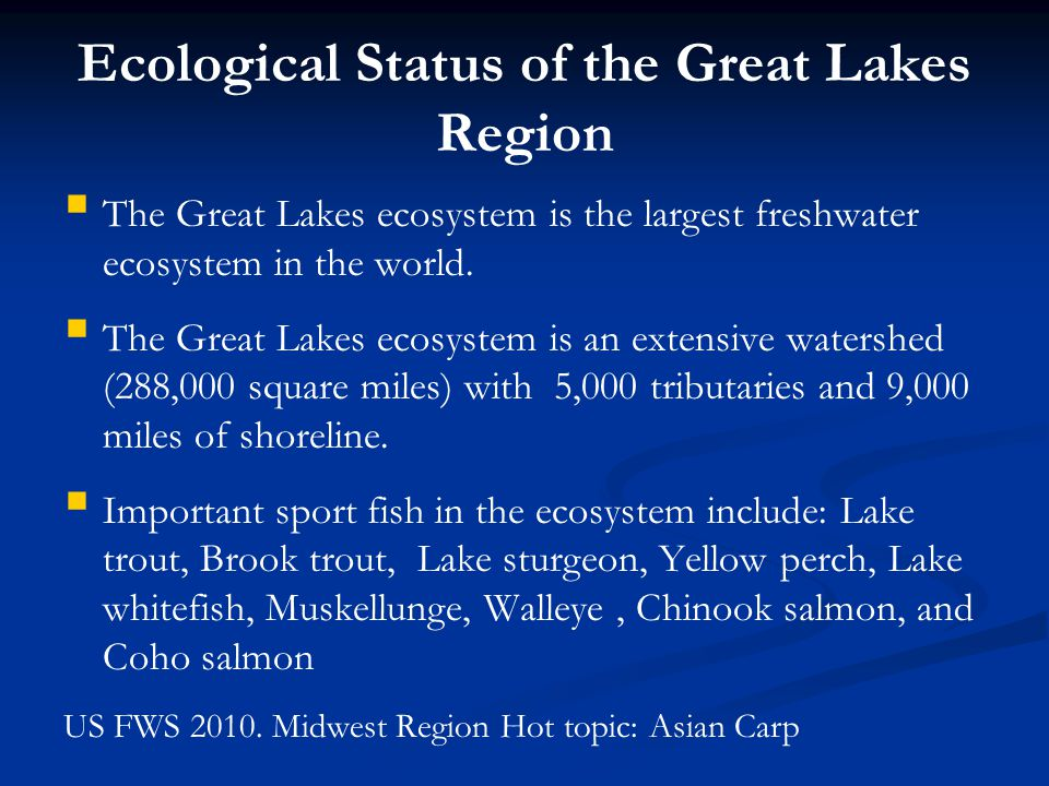 Ecological Status of the Great Lakes Region