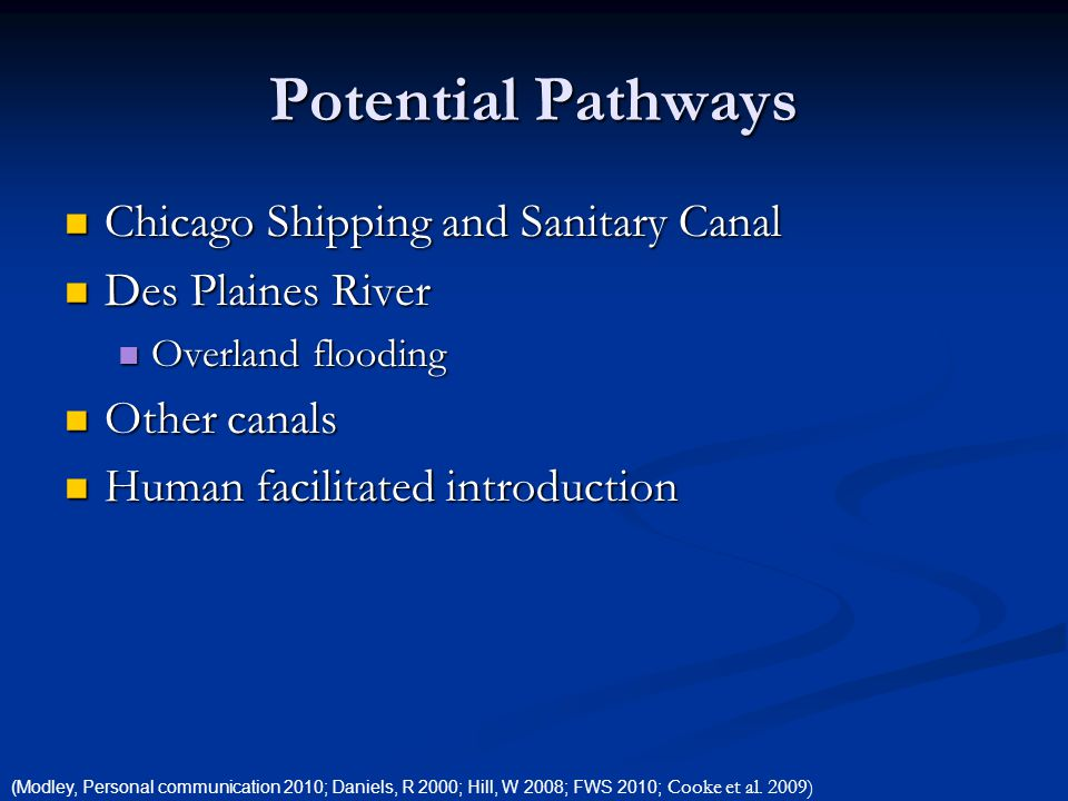 Potential Pathways Chicago Shipping and Sanitary Canal