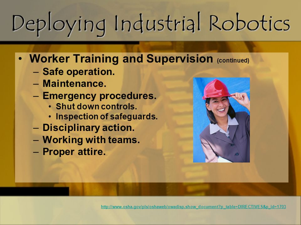 Deploying Industrial Robotics