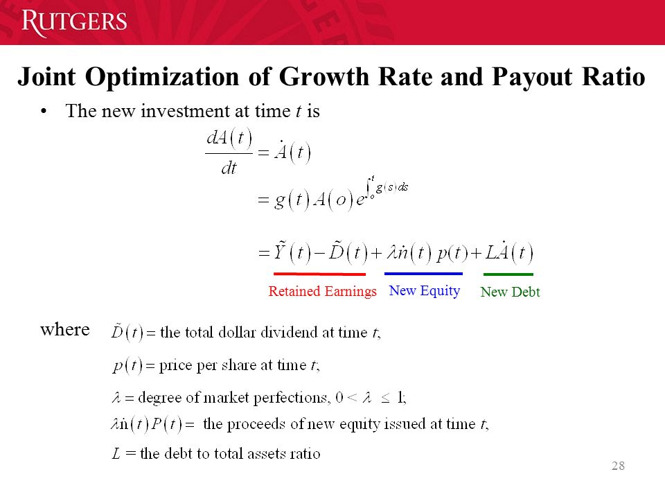 Joint Optimization of Growth Rate and Payout Ratio