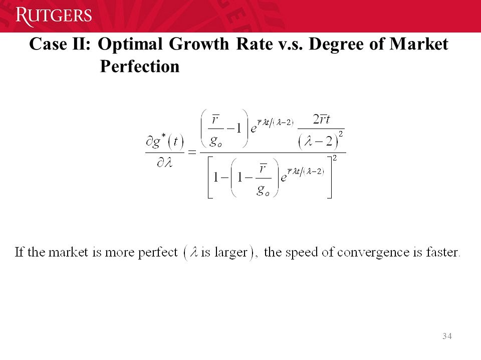 Case II: Optimal Growth Rate v.s. Degree of Market Perfection
