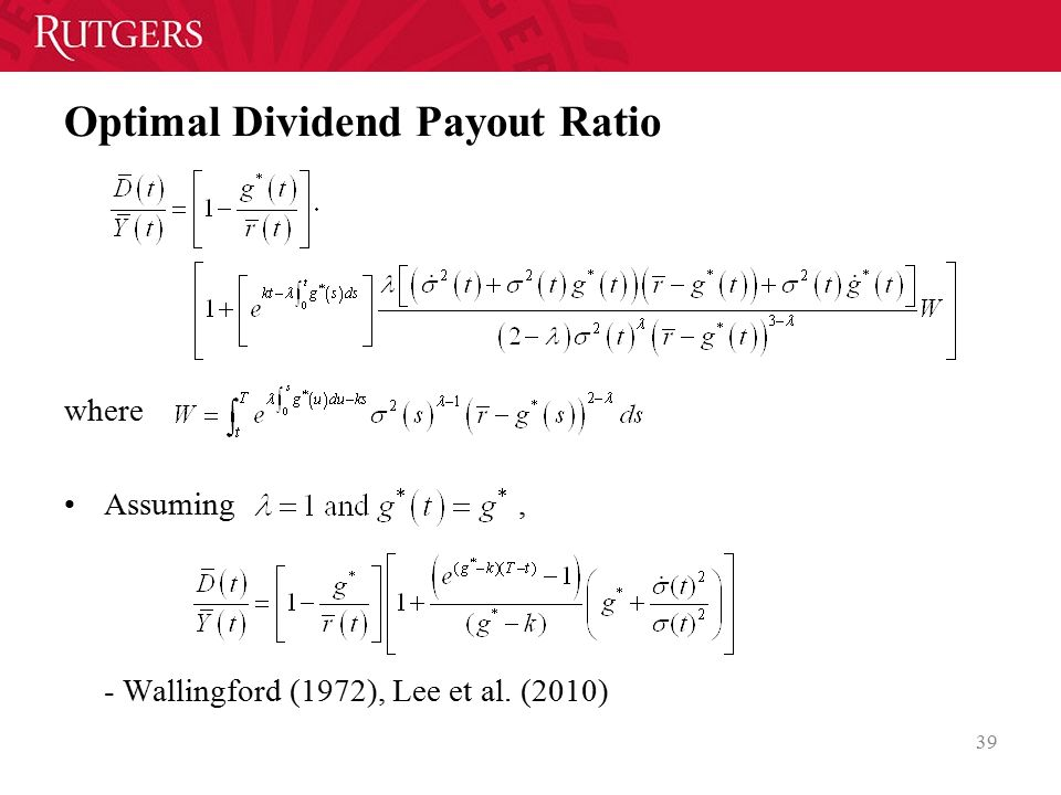 Optimal Dividend Payout Ratio