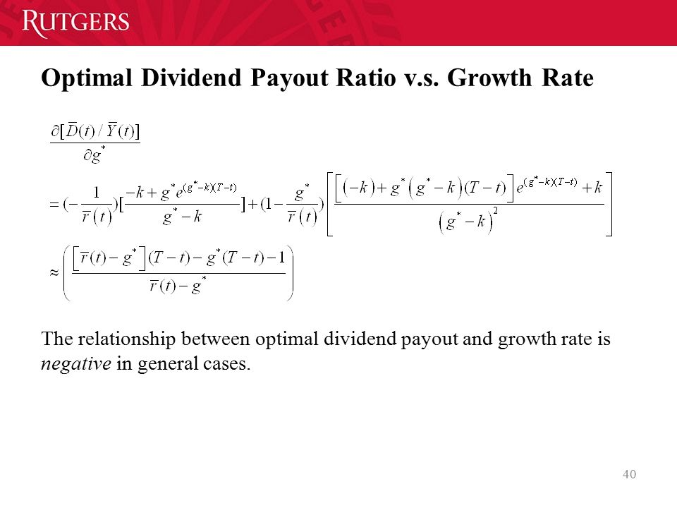 Optimal Dividend Payout Ratio v.s. Growth Rate