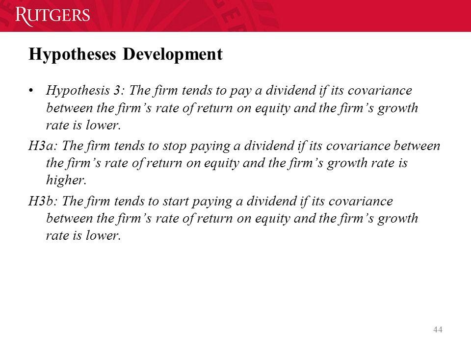 Hypotheses Development
