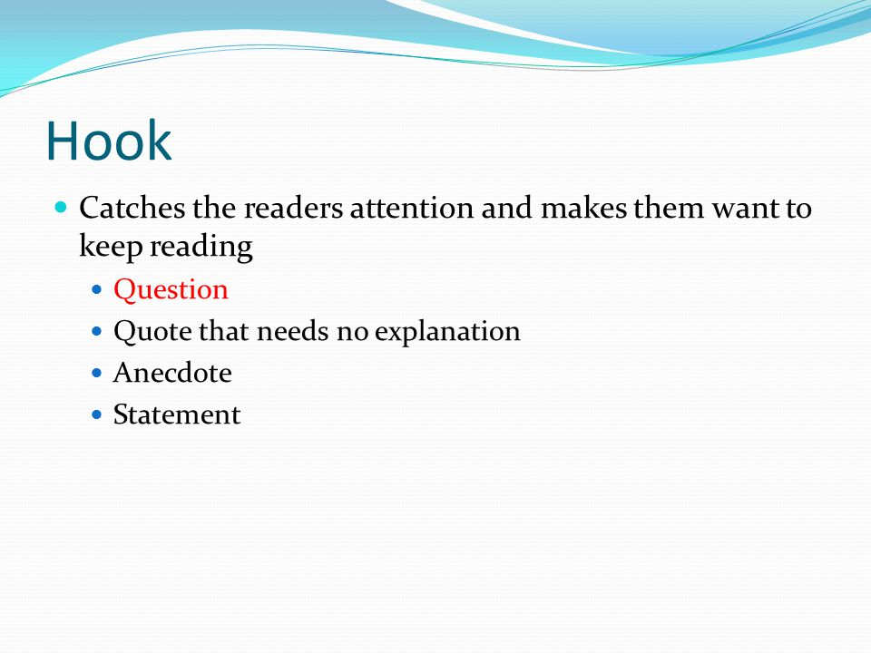 personal essay ppt video online  3 hook