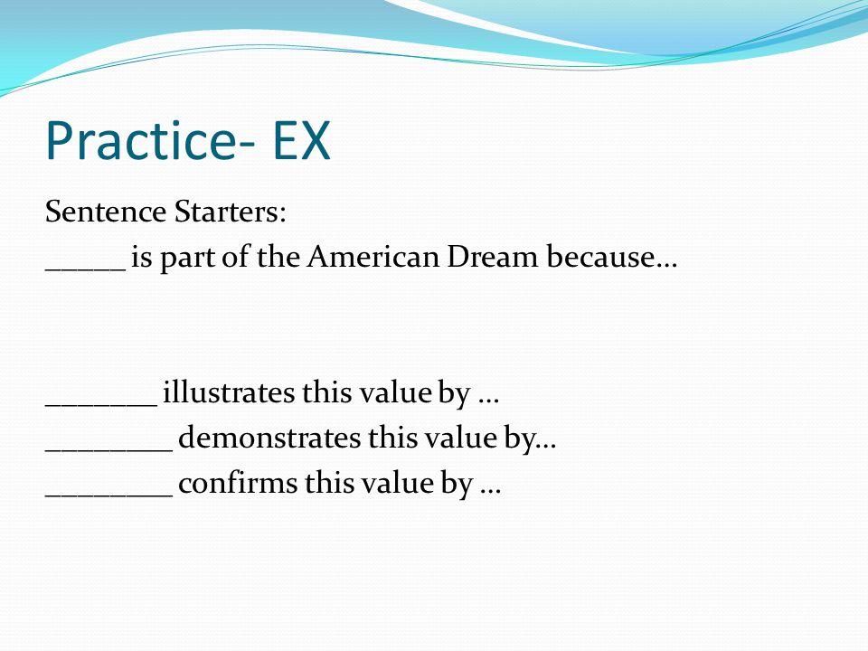 Practice- EX