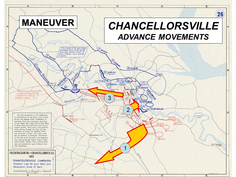 CHANCELLORSVILLE ADVANCE MOVEMENTS