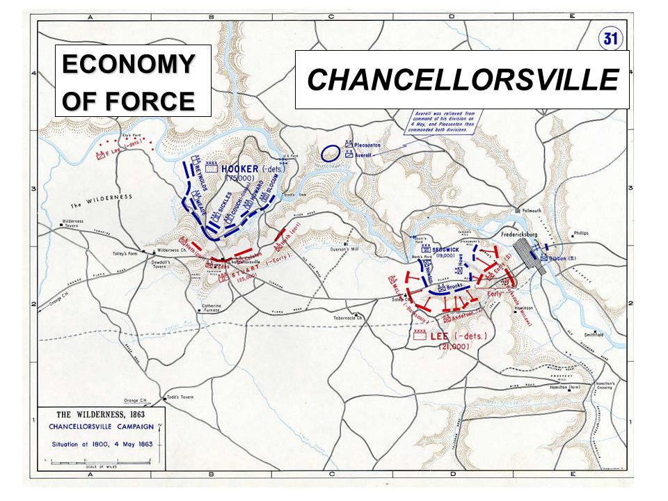 ECONOMY OF FORCE CHANCELLORSVILLE