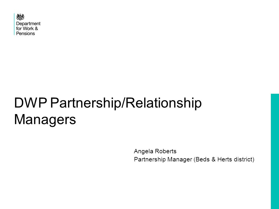 DWP Partnership/Relationship Managers