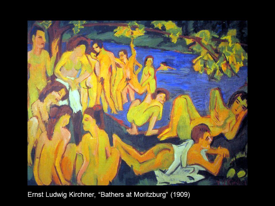 Ernst Ludwig Kirchner, Bathers at Moritzburg (1909)
