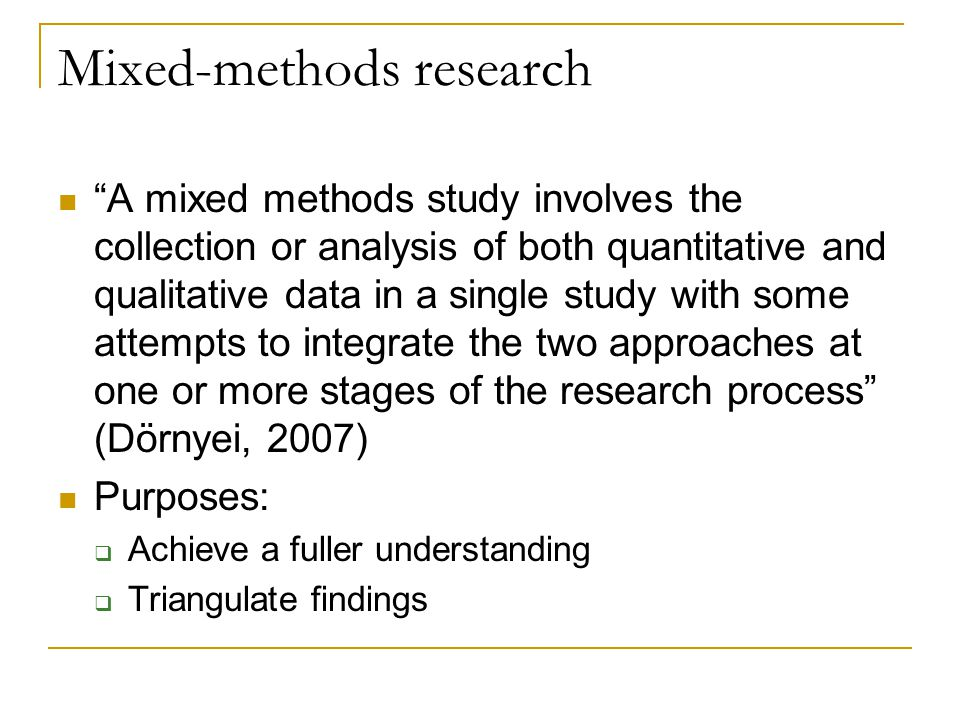 Mixed-methods research