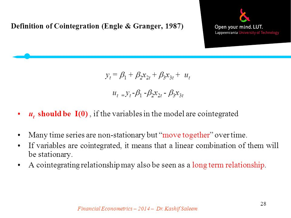 Definition of Cointegration (Engle & Granger, 1987)
