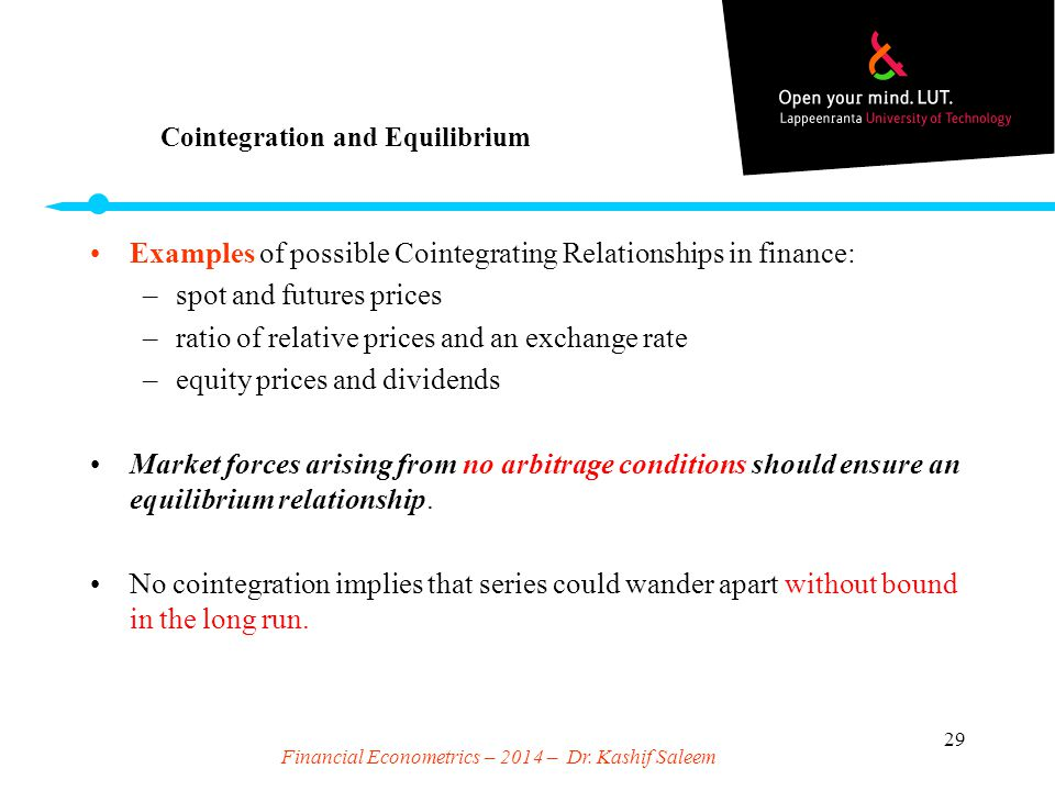 Cointegration and Equilibrium