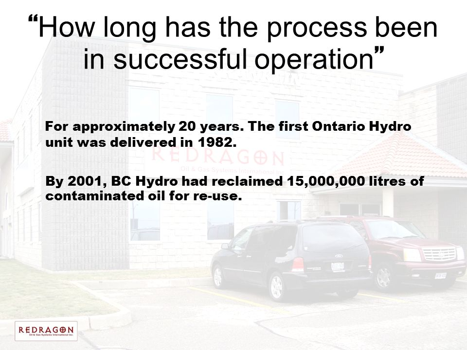 How long has the process been in successful operation