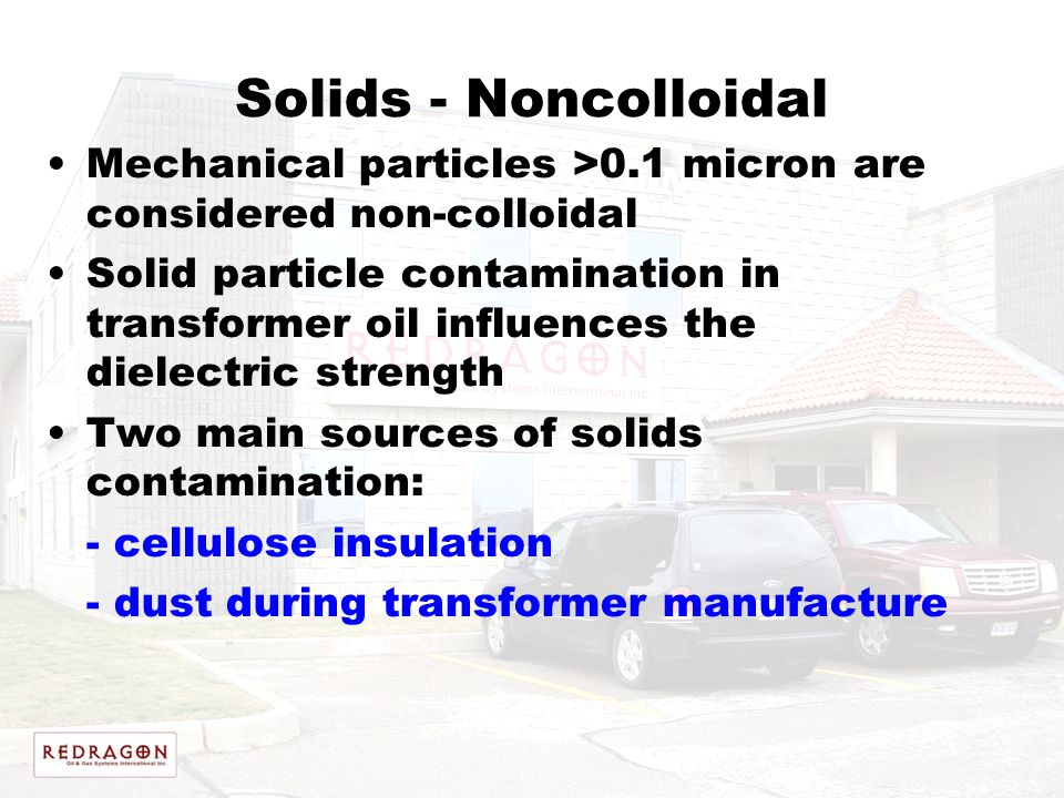 Solids - Noncolloidal Mechanical particles >0.1 micron are considered non-colloidal.