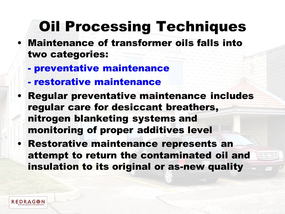 Oil Processing Techniques